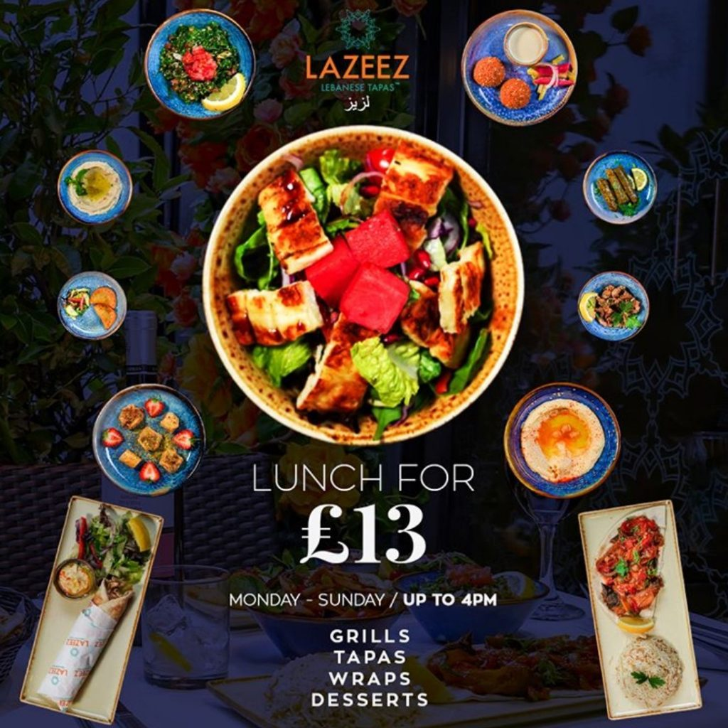 Lazeez Autumn 2020 Lunch Offer